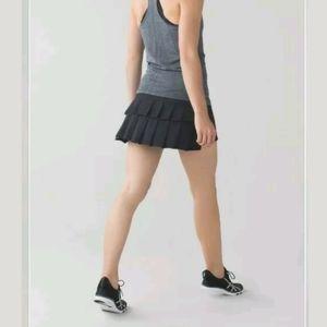 Lululemon Black Pace Setter Skirt/Skort Sz 12 Tall